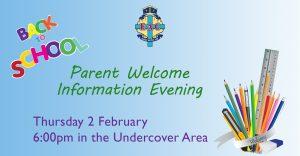 Parent Welcome & Information Evening