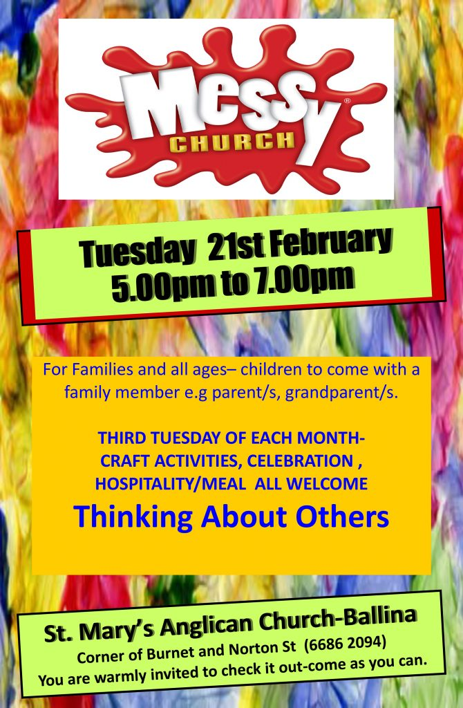 Messy Church Poster February
