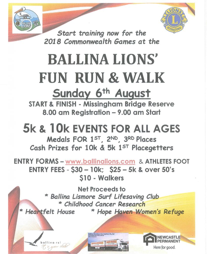 Lions Ballina Fun Run