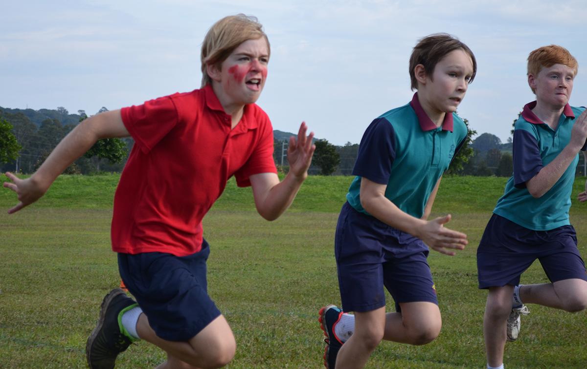 Older Boys running - Emmanuel Anglican College