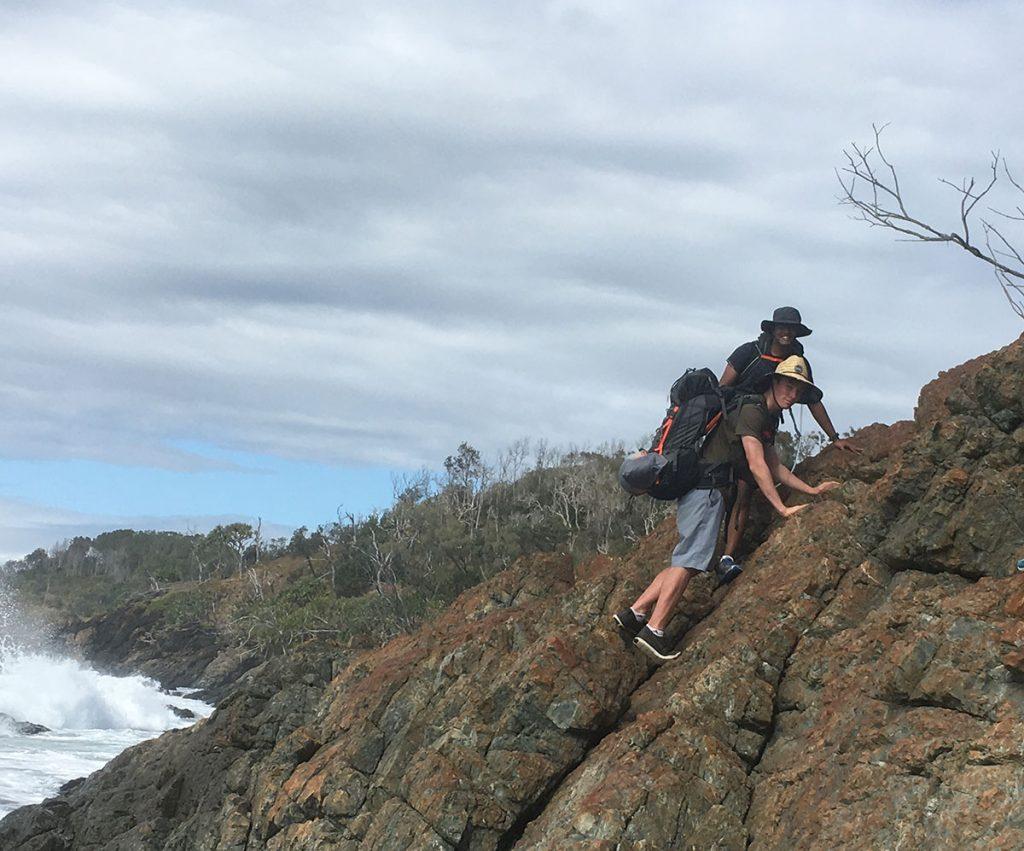D & E rock climbing