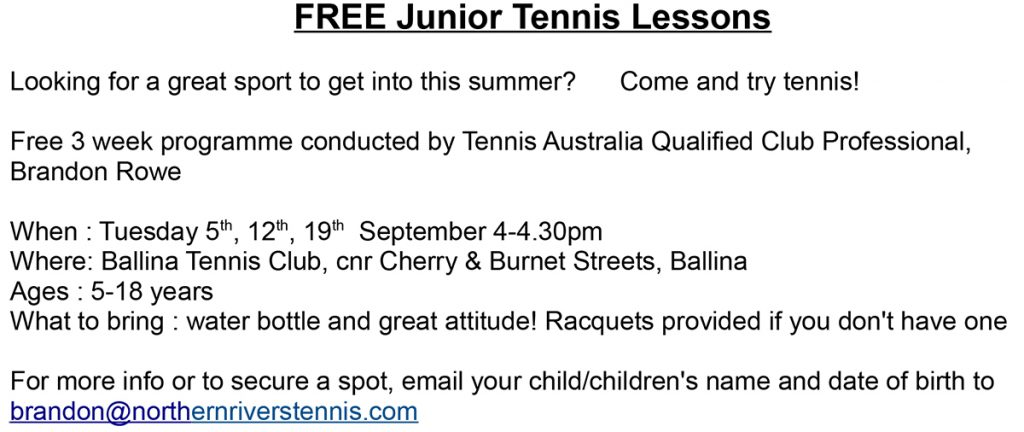 Free Tennis Intro
