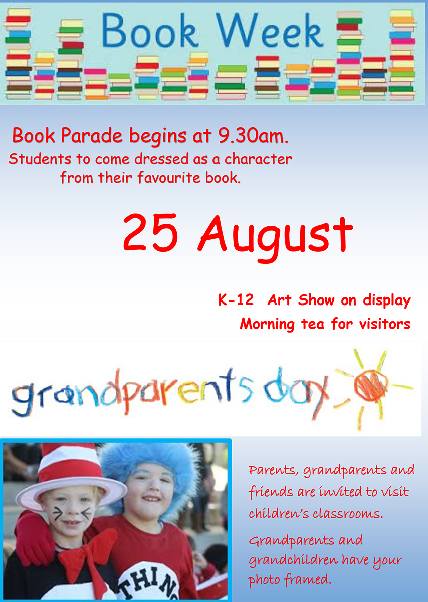 Grandparents and bookweek flyer