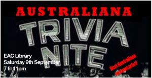 Trivia Night 9 September