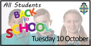 Back to School Tuesday 10 October