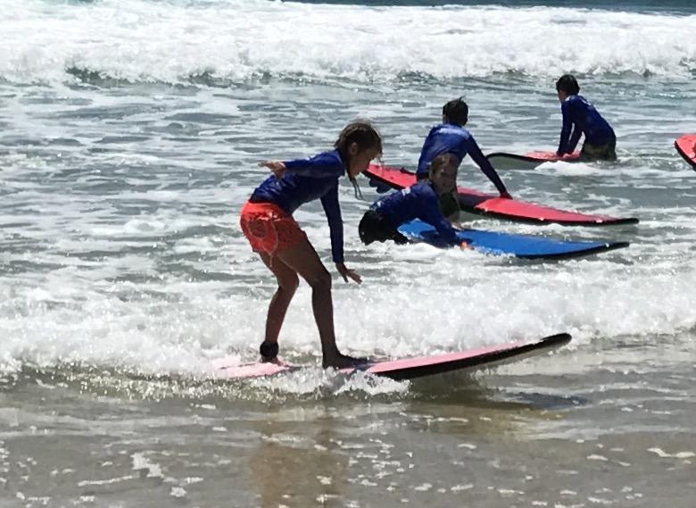 Yr 4 Girl Surfing