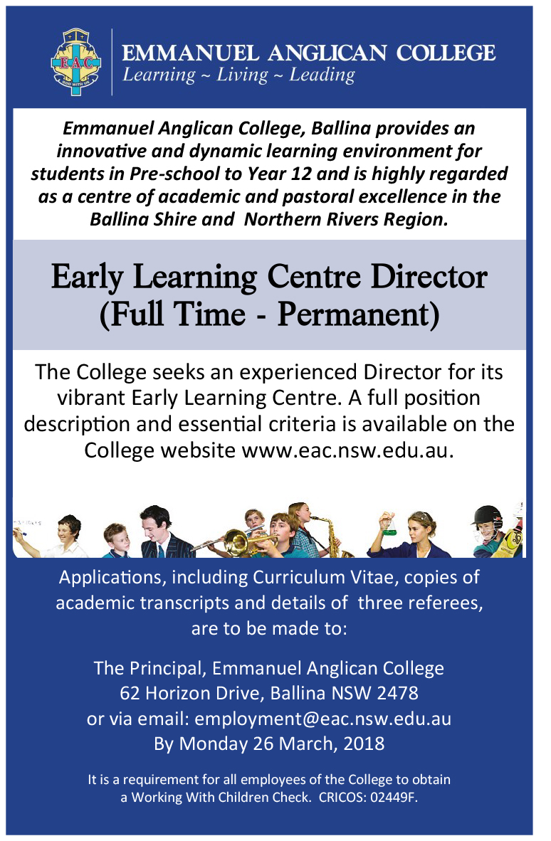 Early Learning Centre Director