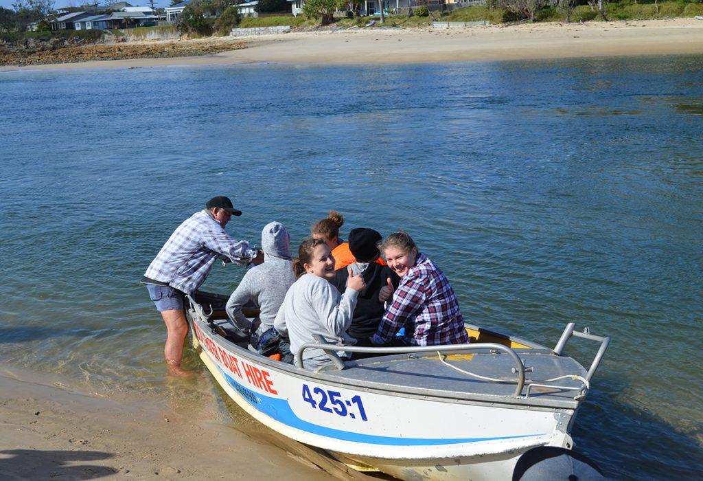 Bronze boat ride