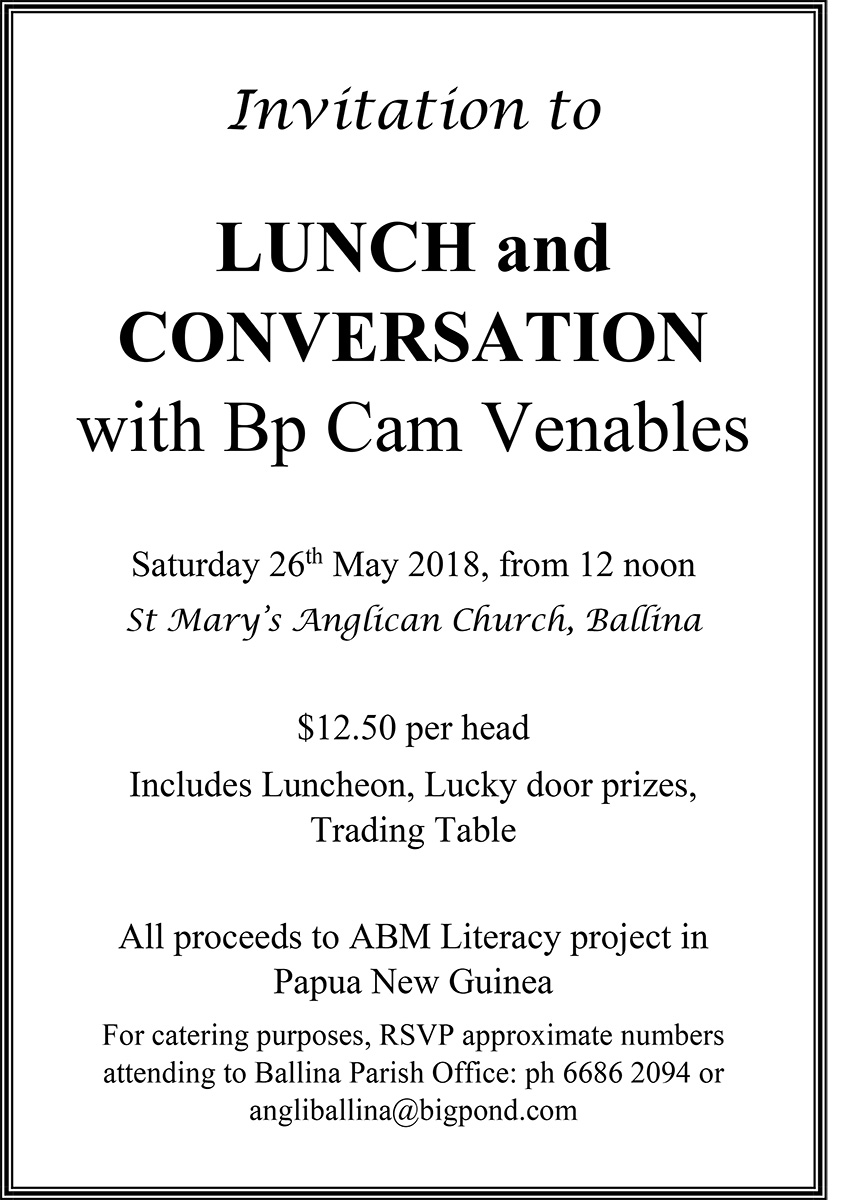 Invitation to lunch conversation emmanuel anglican college invitation to lunch conversation stopboris Choice Image