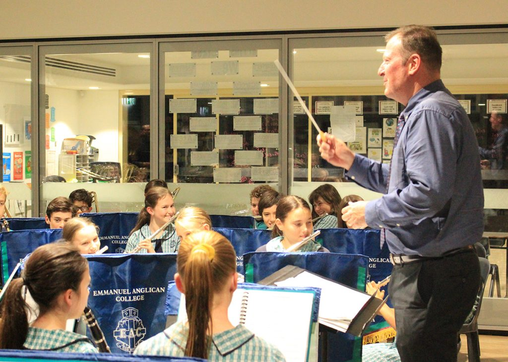 Mr Parks conducting the Senior Primary Concert Band