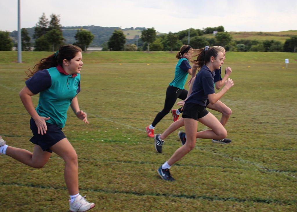 Secondary Athletics girls running