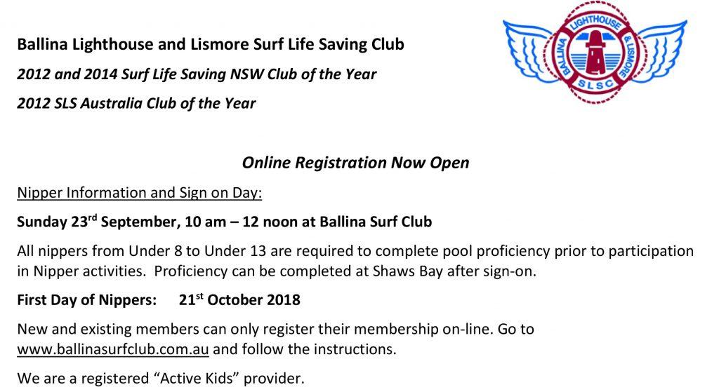 Ballina Nippers School newsletter info 2018