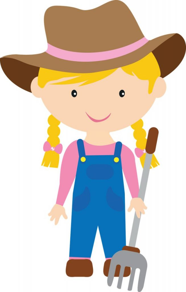 Farmer cartoon girl