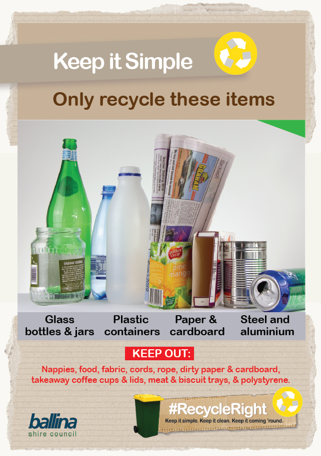Recycle Right_Keep It Simple poster