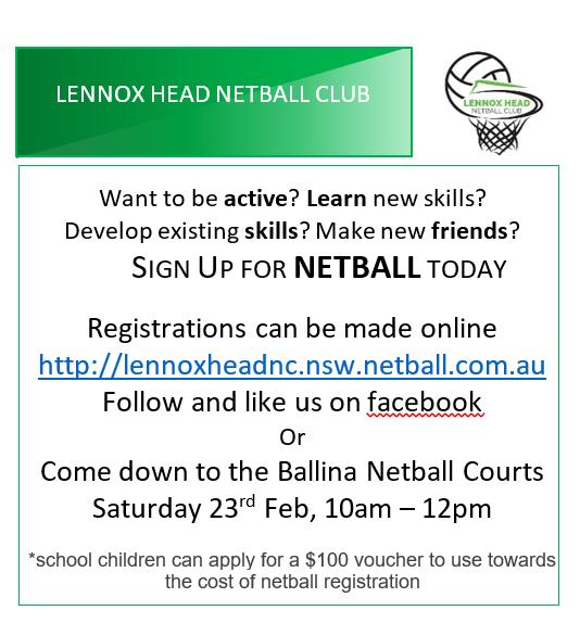 Lennox Head NC sign on for schools