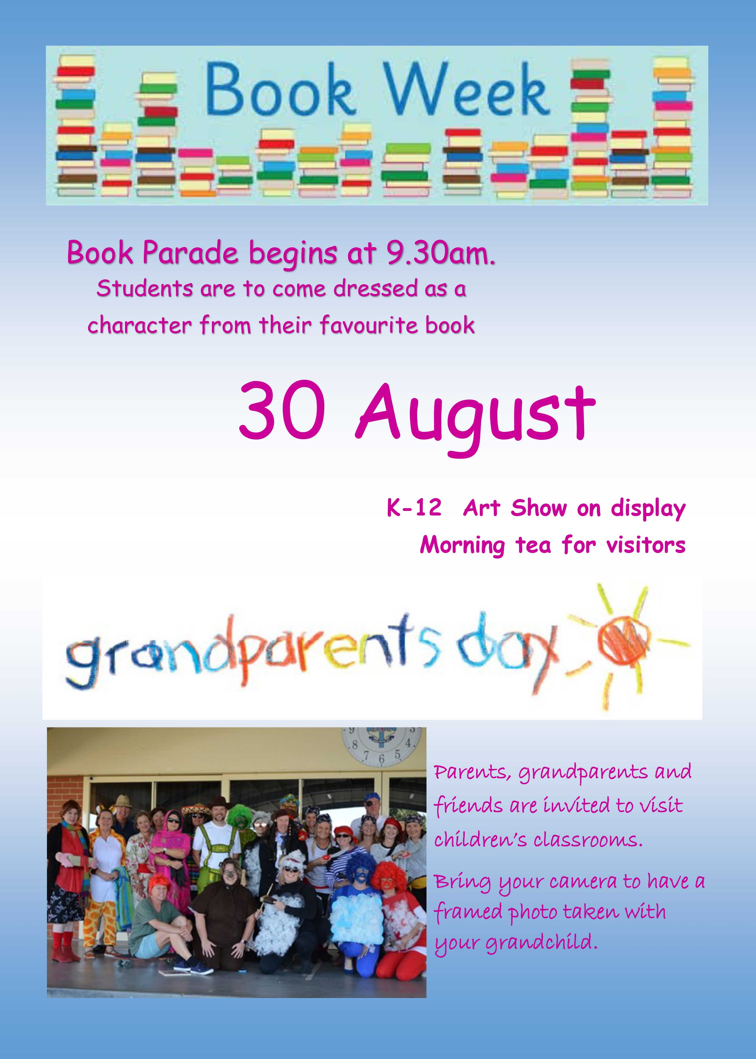 Grandparents and bookweek flyer 2019