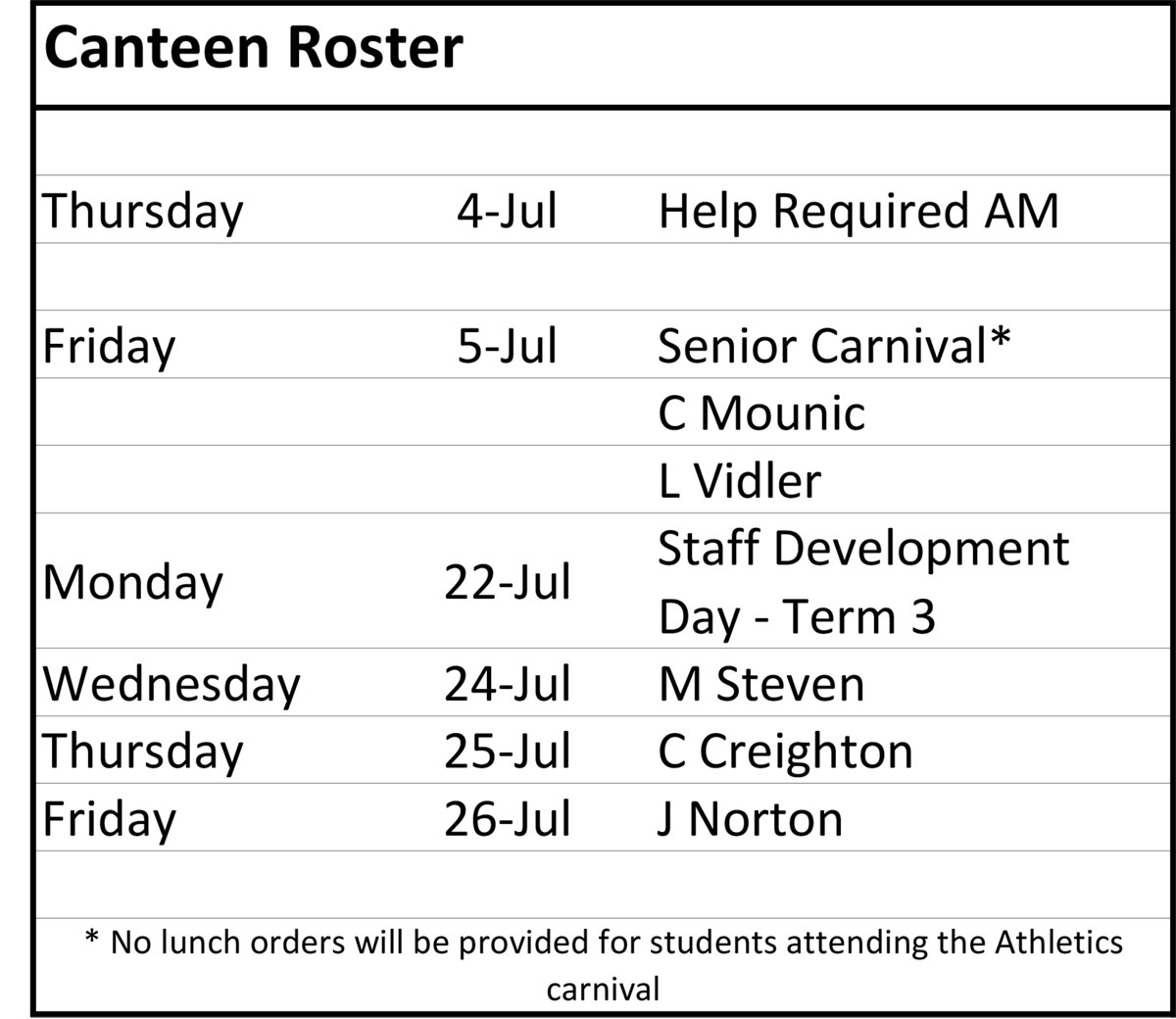canteen-roster