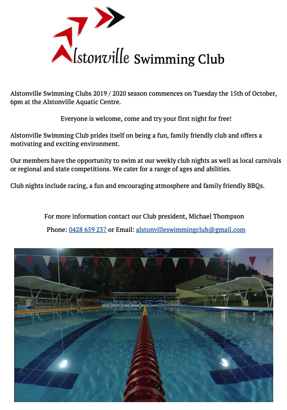 Alstonville Swimming Club Night Flyer 2019 (1)