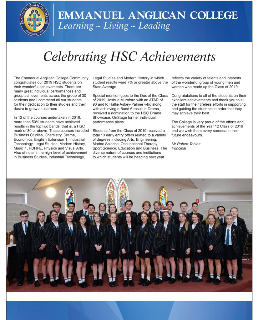 HSC results for 2019